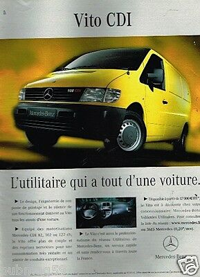 Publicité advertising 2002 Fourgon Utilitaire Vito CDI Mercedes Benz