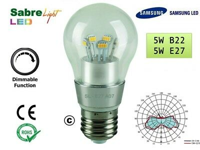 50 x 5W B22 &  E27 LED GLS LAMP BULB 360 DEGREES REPLACES 40W HALOGEN DIMMABLE