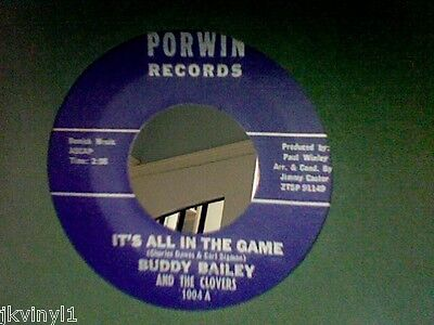 Buddy Bailey-It's All In The Game-Porwin 1004. Vg++
