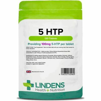 Lindens 5-HTP 100mg 120 Tabletten 5 HTP 5-HTP L-5-Hydroxytryptophan Griffonia