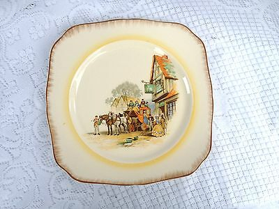 """Old English Horse and Carriage """"Ye Swan"""" Inn Tunstall Decorative Plate (404)"""