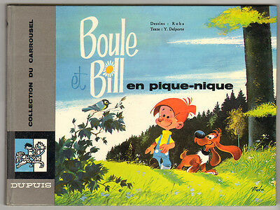 "Roba Boule et Bill ""En Pique-nique""  Dupuis 1966 Collection du Carrousel"
