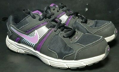 Nike Part 10 Athletic Running Sneaker Shoes Girls  Size 3 Youth Black Purple