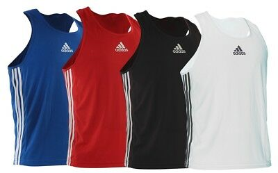 Adidas Boxing Vest Fight Training Top Pro Amateur Kids Mens Black Red Blue White