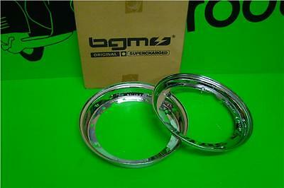 Bgm Qualty Chrome Split Rim Fits Vespa Px 125 200 (Ect) 210 X 10
