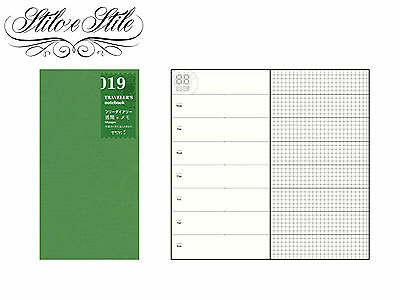 Midori Free Diary Weekly + Memo | Refill 019 | Traveler's Notebook Regular Size