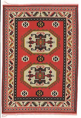 "Dollhouse Miniature Beautiful Woven Turkish Rug 4"" x 5"" ~ S110-8  NEW"
