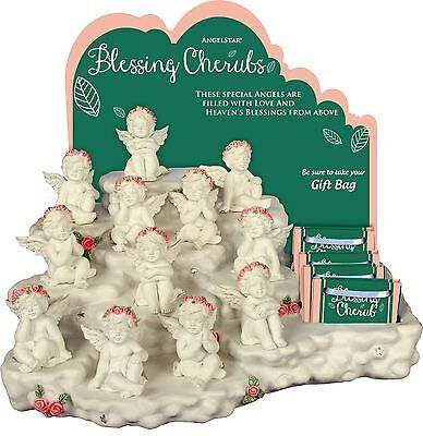 AngelStar Blessing Angels Display with 48 Cherubs & Gift Bags