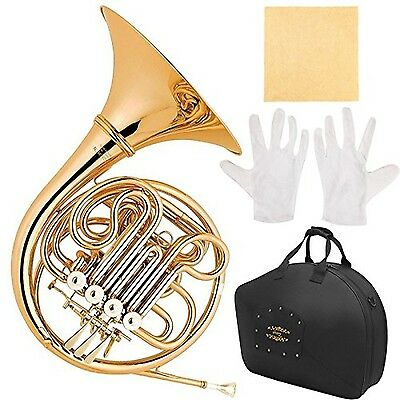 Glory GFH-42 PROFESSIONAL 4(FOUR) Keys of F/Bb DOUBLE French horn with Case a...