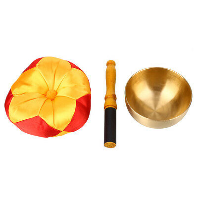 Tibetan Metal Buddhism Singing Bowl Meditation Relaxation With Cushion
