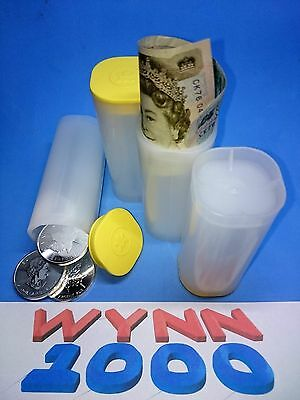 4 Genuine Silver Maple Leaf Mint Plastic Tubes Holds 25 Coins each