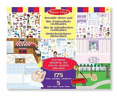 Melissa & Doug Reusable Sticker Pad - Play House