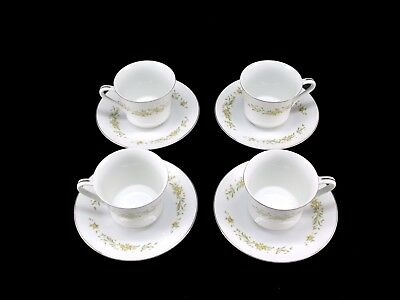 Style House Fine China Mayfair Platinum Trim Dishes Cups & Saucers Lot of 12