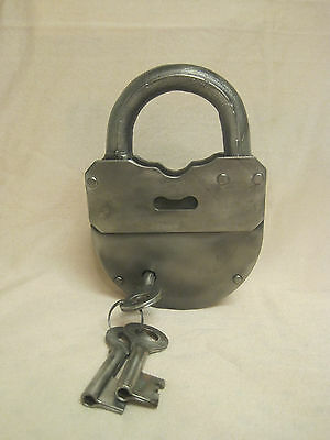 Old Big Padlock with Key. USSR. Antique