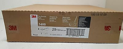 "New 3M 3400 High Speed Tan Burnish Pads 20""  CASE OF 5"