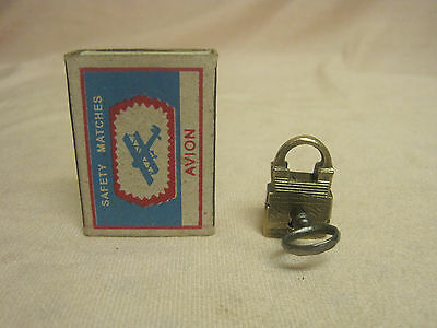 Old Small Padlock with Key. Russia 19th century