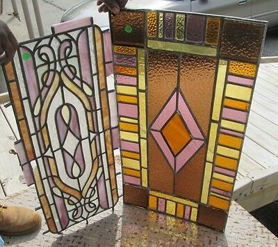 Pair Of Old Stained Glass Windows Bargain Days A Bellevue, Ky. Estate # 9