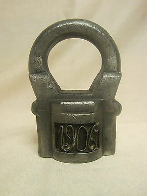 Old Padlock. Russia 20-th century 1906