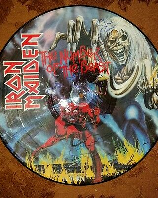 Iron Maiden Vintage Number Of The Beast Picture Disc  Lp Au