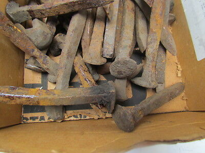 Lot of 10 Old Rusty Railroad Steaks/Spikes (Nails)