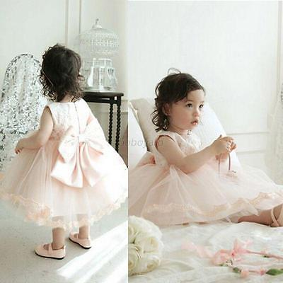 Formal Lace Baby Kid Princess Bridesmaid Floral Girl Dress Wedding Party Dresses