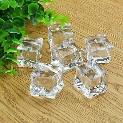 Fake Acrylic Cleaar Ice Cubes Square Artificial Hydroponic Plant Decoration 5/15