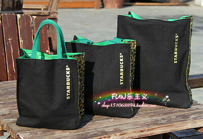 Highly Recommend Starbucks NEW CANVAS Lunch Bag BLACK SMALLTOTE BAG HANDBAG