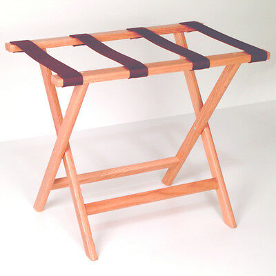 Straight Leg Luggage Stand - Light Oak - Brown