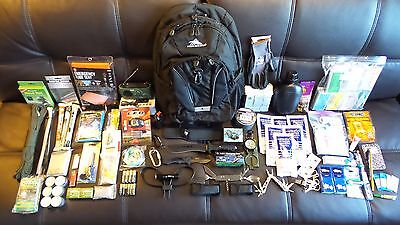 New DIY Custom Emergency Bug Out Bag Gear Backpack Survival Kit Camping Hiking