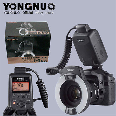 Yongnuo YN-14EX YN14EX LED TTL Macro Ring Flash Light Speedlite for Canon