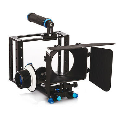 TARION Video Movie Kit Cage + Follow Focus Finder + Matte Box for DSLR DV Camera