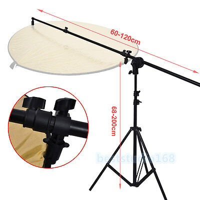 Photography Studio Light Holder Reflector Panel Arm Bar Grip Stand Photo Bracket
