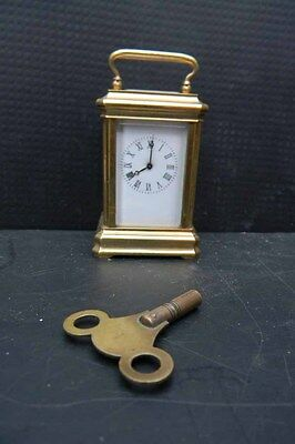carriage clock minature perfect condition and working order
