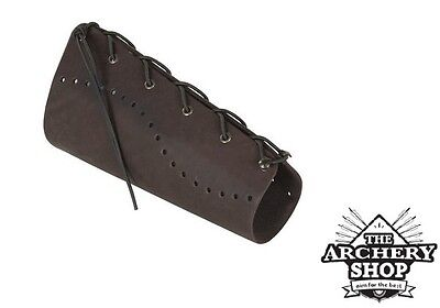 New Archery STRELE - Traditional Leather Armguard (arm guard) - Quick fastening