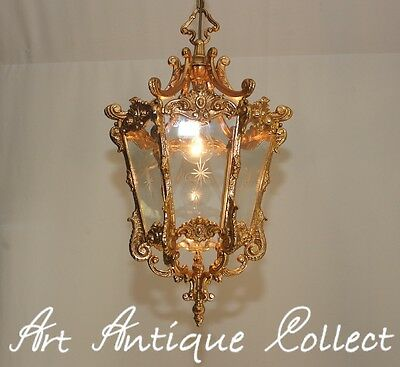 Antik Deckenlampe Kronleuchter Messing Laterne Prunkvoll Hanging Lantern Led