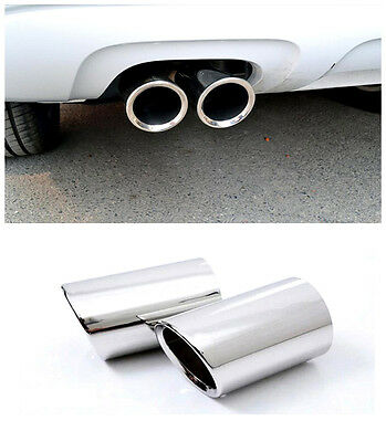 For Audi A4 B8 2008-2015 Stainless Chrome Tail End Pipe Exhaust Muffler Silencer