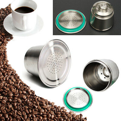 Stainless Steel Coffee Capsule Pod Cup Reusable Refillable For Nespresso Machine