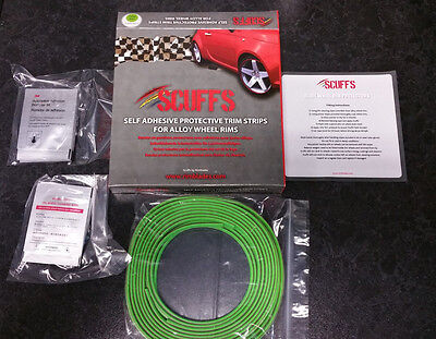 GREEN SCUFFS by Rimblades Car Tuning Alloy Wheel Rim Protectors Tyre Guard Line