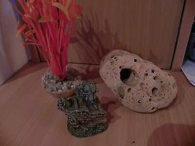 Lot 3 Decorations Aquarium Tb Etat