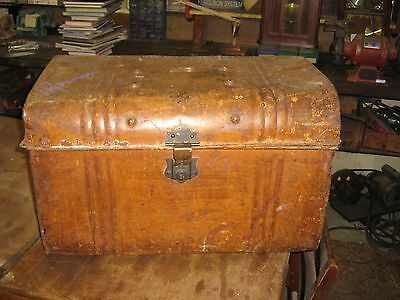 Metal trunk - antique collectable