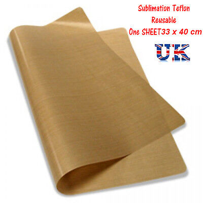 HEAT PRESS SHEET  - PTFE Teflon reusable FREE Postage / For Sublimation