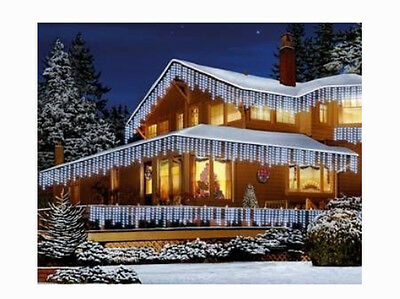 Christmas Led White/Blue Snowing Icicle Bright Party Wedding Xmas Outdoor Lights