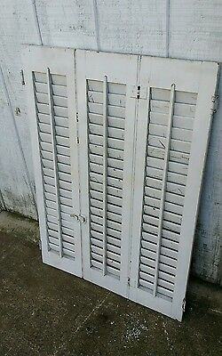 Vintage Outdoor Window Shutters White Classic