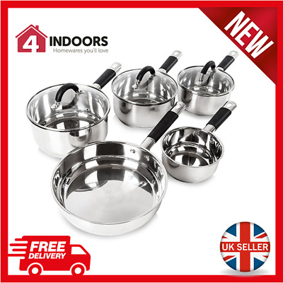 Tower T80833 5pc Stainless Steel Pan Set with Silicone Handles - Brand NEW !!!!