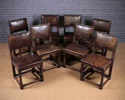 Set of Eight Oak Dining Chairs c.1930