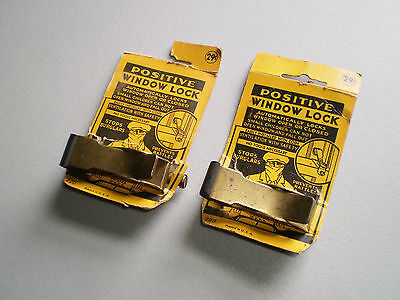 2 Vintage Positive Window Lock Assembly's.