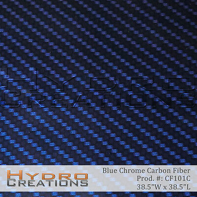 Hydrographic Film For Hydro Dipping Water Transfer Film Blue Chrome Carbon Fiber