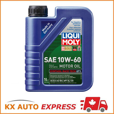 12L Liqui Moly Synthoil Race Tech GT1 SAE 10W-60 Fully Synthetic Engine Oil 1L