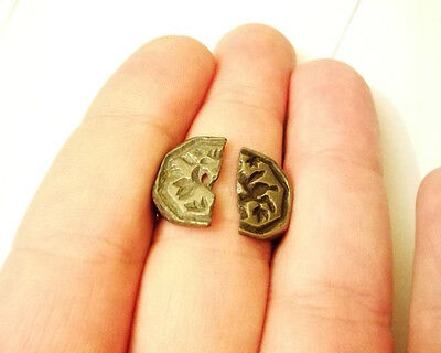 Knights templar IN HOC SIGNO VINCES bronze ring 12 AD