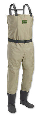Men Orvis Silver Label Classic Breathable Stocking Foot Fishing Wader Size Large